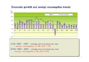 Economic growth and energy consumption trends