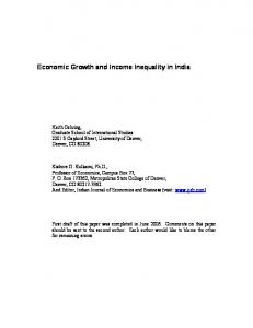 Economic Growth and Income Inequality in India