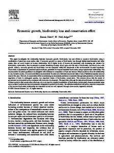 Economic growth, biodiversity loss and conservation effort