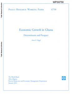Economic Growth in Ghana