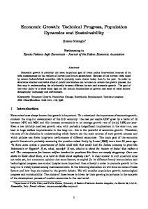 Economic Growth: Technical Progress, Population Dynamics and Sustainability