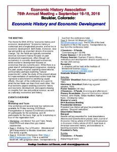 Economic History and Economic Development