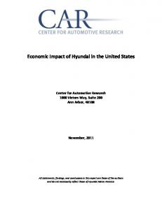 Economic Impact of Hyundai in the United States
