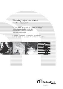 Economic impact of port activity : a disaggregate analysis