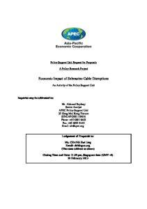 Economic Impact of Submarine Cable Disruptions