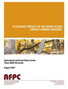 ECONOMIC IMPACT OF THE UNITED STATES CERVID FARMING INDUSTRY