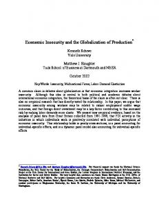 Economic Insecurity and the Globalization of Production *