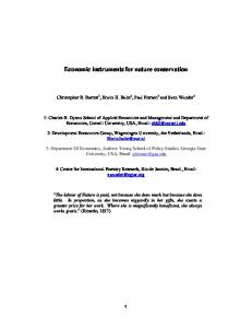 Economic instruments for nature conservation