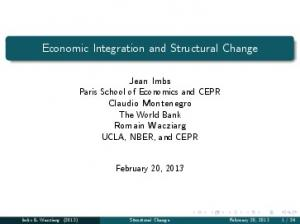 Economic Integration and Structural Change