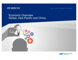 Economic Overview Global, Asia Pacific and China