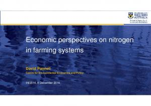 Economic perspectives on nitrogen in farming systems