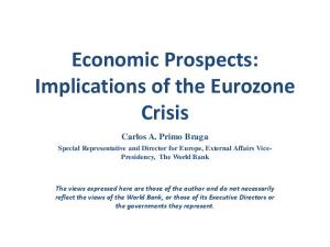 Economic Prospects: Implications of the Eurozone Crisis