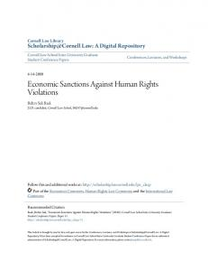 Economic Sanctions Against Human Rights Violations