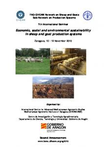 Economic, social and environmental sustainability in sheep and goat production systems