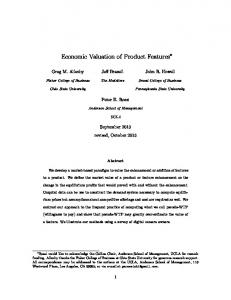 Economic Valuation of Product Features