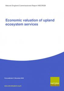 Economic valuation of upland ecosystem services