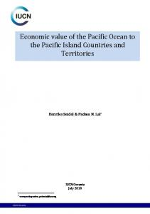 Economic value of the Pacific Ocean to the Pacific Island Countries and Territories