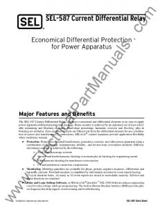 Economical Differential Protection for Power Apparatus