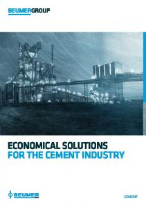 ECONOMICAL SOLUTIONS FOR THE CEMENT INDUSTRY