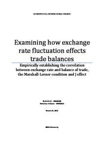 ECONOMICS 431: INTERNATIONAL FINANCE