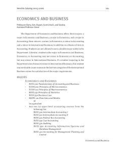 ECONOMICS AND BUSINESS
