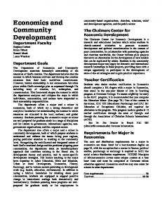 Economics and Community Development