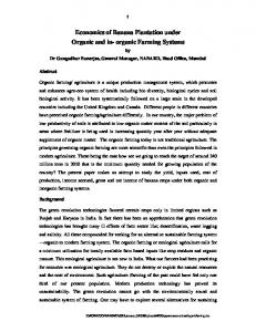 Economics of Banana Plantation under Organic and in- organic Farming Systems