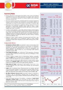 Economy News. Corporate News AUGUST 25, 2016