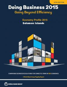 Economy Profile 2015 Solomon Islands
