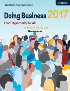 Economy Profile 2017 Cameroon