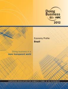 Economy Profile: Brazil