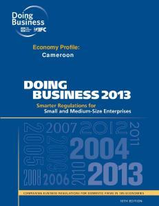 Economy Profile: Cameroon