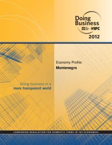 Economy Profile: Montenegro