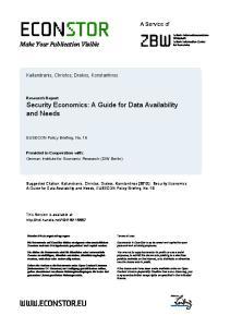 econstor Make Your Publication Visible
