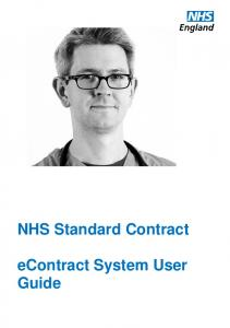econtract System User Guide