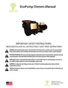 EcoPump 230 Volt Wiring Diagram