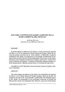 ECOS DEL CONSTITUCIONALISMO GADITANO EN LA BANDA ORIENTAL DEL URUGUAY