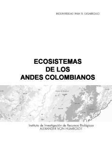 ECOSISTEMAS DE LOS ANDES COLOMBIANOS