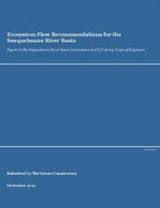 Ecosystem Flow Recommendations for the Susquehanna River Basin