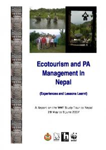 Ecotourism and PA Management in Nepal. (Experiences and Lessons Learnt)