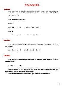 Ecuaciones. 2x + 3 = 5x 2. 2x + 1 = 2 (x + 1) 2x + 1 = 2x x + 2 = 2 (x + 1) 2x + 2 = 2x = 2. x + 1 = 2 x = 1