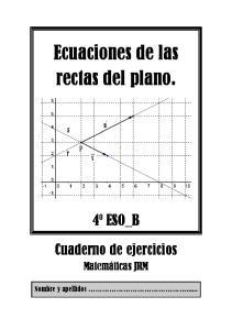 Ecuaciones de las rectas del plano