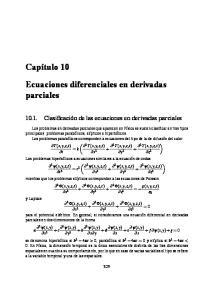 Ecuaciones diferenciales en derivadas parciales