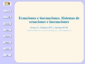 Ecuaciones e inecuaciones. Sistemas de ecuaciones e inecuaciones