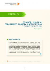 ECUADOR, : CRECIMIENTO, POBREZA, PRODUCTIVIDAD Y CAMBIO ESTRUCTURAL