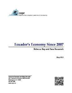 Ecuador s Economy Since 2007