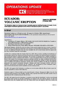 ECUADOR: VOLCANIC ERUPTION