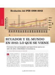 ECUADOR Y EL MUNDO EN 2012: LO QUE SE VIENE