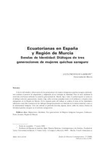 Ecuatorianas en España y Región de Murcia