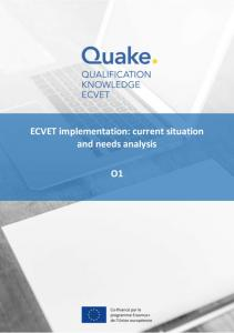 ECVET implementation: current situation and needs analysis